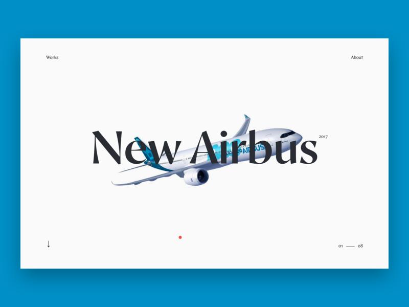 Portfolio - Personal website minimal white clean inspiration ux ux  ui airbus personal website portfolio case design typography web interface design ui