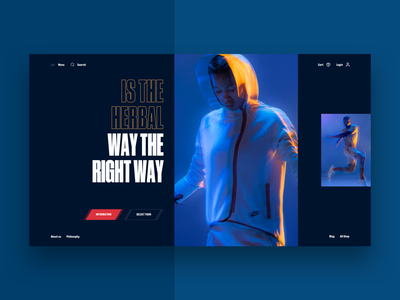 Creatin — Way The Right Way clean typography girl sport web ux interface design ui