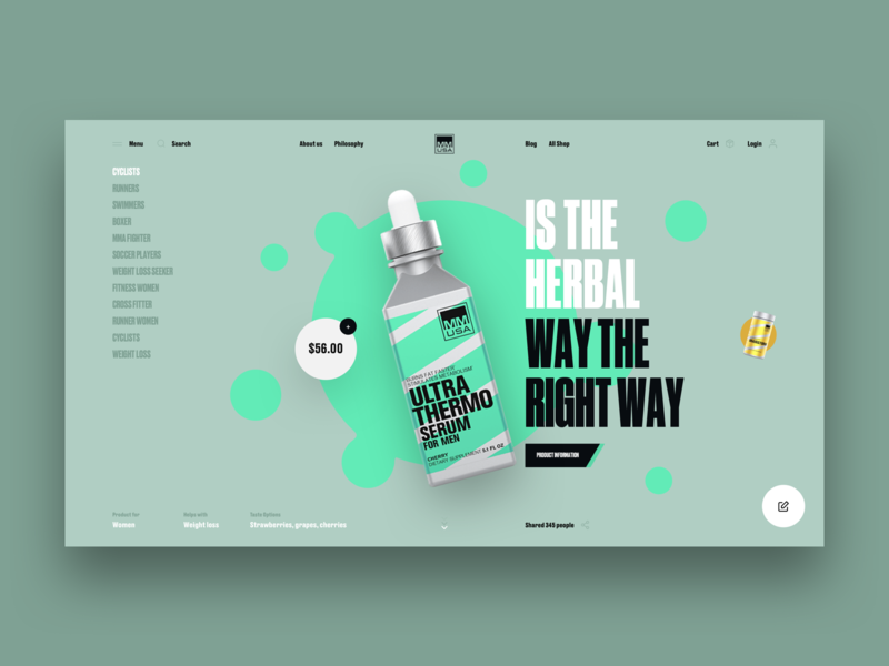 Creatin - Product dribbble minimal clean typography sport web ux interface design ui