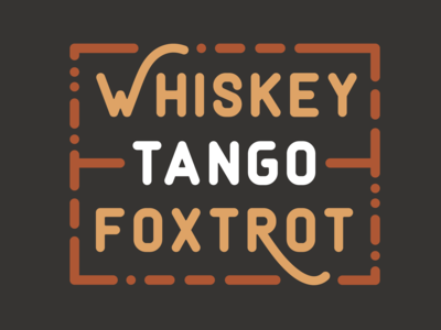 Whiskey Tango Foxtrot - WTF label exploration
