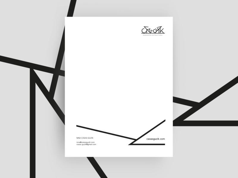 Guzik graphic design design branding brand lines minimal letterhead card