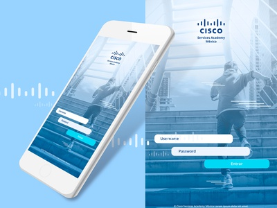 Cisco login page login user blue cleandesign clean app app concept ux ui ui  ux app