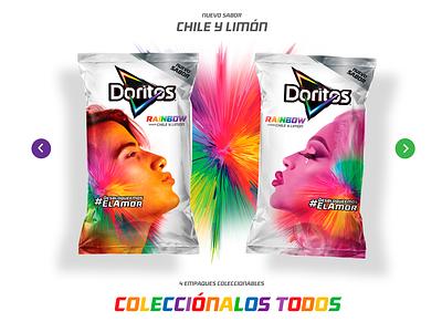 Doritos Rainbow uiux ui colorswatch colorscheme mexico chile food pride colors gaypride gay rainbow doritos