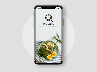 Click&Eat App simplicity simple iphone vegan egg foodui uiapp design ui  ux mexico clean web ui food food app eat mobile app mobile ui mobile splash