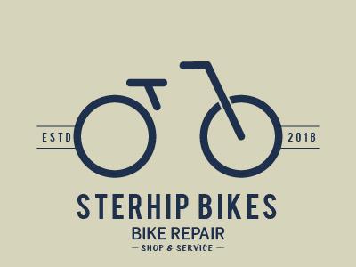 Daily logo challenge #23 bikeshop bike design sterhip logo bicycle logo flat design adobe illustrator dailylogo. graphic design logodesignchallenge logodesign logo graphic dailylogochallenge