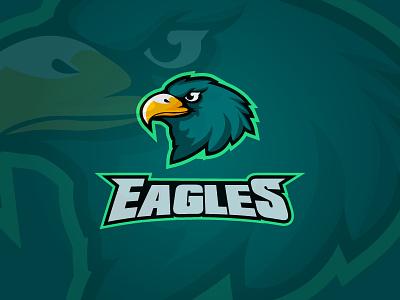 Daily logo challenge #31 eagles sports design sports logo dailylogochallenge graphic logo logodesign logodesignchallenge dailylogo. graphic design adobe illustrator flat design