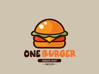 Daily logo challenge #32 one burger burger design burger logo burger joint flat design adobe illustrator dailylogo. graphic design logodesignchallenge logodesign logo graphic dailylogochallenge