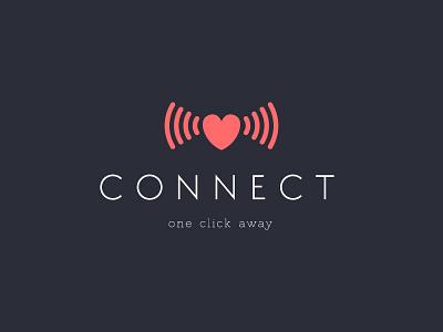 Daily logo challenge #38 dating logo connect logo dating app dailylogochallenge graphic logo logodesign logodesignchallenge dailylogo. graphic design adobe illustrator