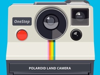 Polaroid One Step Vector Illustration