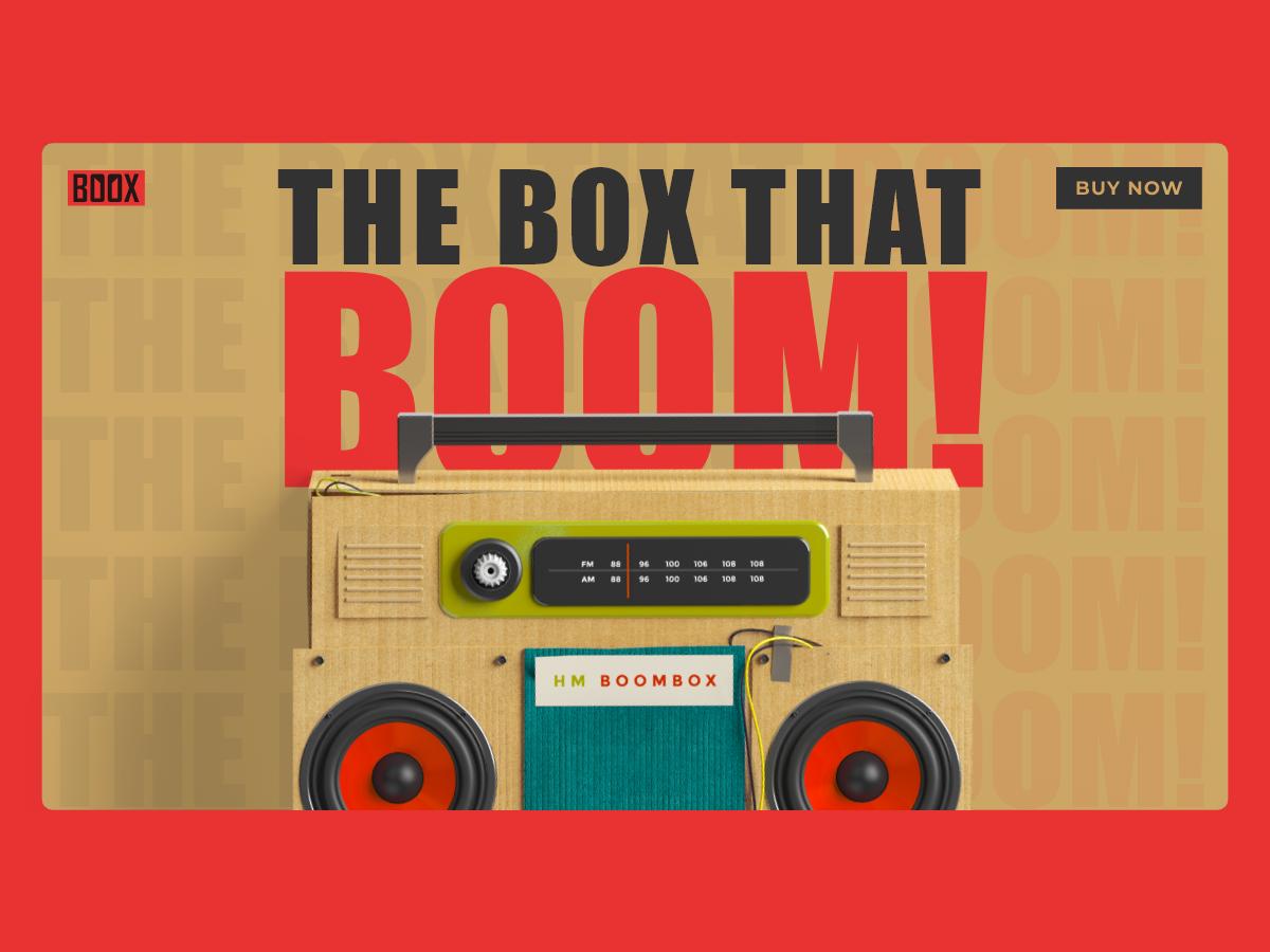 Expressive Landing Page dailyui ecommerce landingpage radio boombox design adobexd