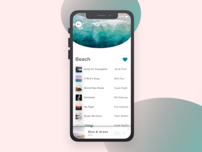Music Player - iPhone X