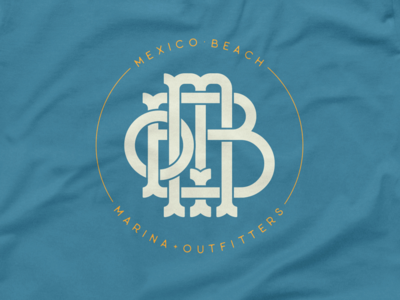 Mexico Beach T-Shirt Design monogram shirt beach tshirt logo