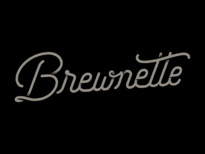 Brewnette Proposed Logo 2 script grunge wordmark beer logo