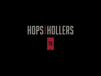Brewnette Proposed Logo 2 Tagline hollers hops tennessee tagline script grunge wordmark beer logo