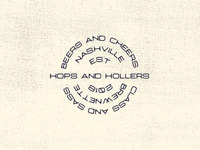 Brewnette Proposed Logo 3 Tagline hollers hops tennessee tagline stamp grunge wordmark beer logo