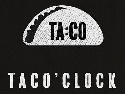 Taco Time mexican clock illustration taco