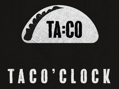 Taco Time mexican clock illustration taco