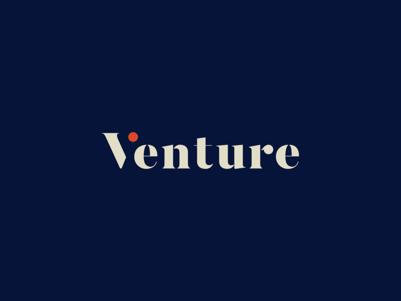 Venture Video logotype serif video typography logo