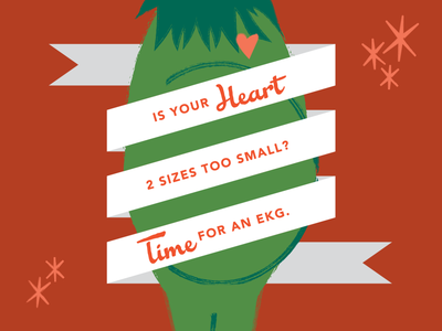 The Grinch stars retro heart grinch vector design christmas illustration