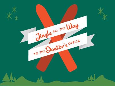 Jingle All the Way social media skis doctor jingle social vector christmas illustration