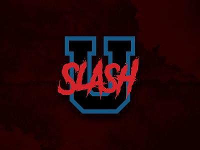 SlashU Logo podcast film horror branding logo design logo