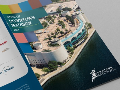 Downtown Madison Inc. Annual Report art direction annual report brochure print