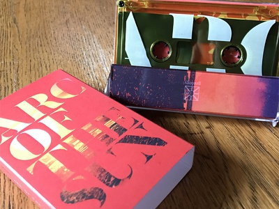 Meta Mora Cassette Layout art direction tape packaging norelco drone cassette ambient
