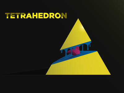PLATONIC SOLID - TETRAHEDRON