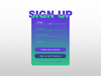 Daily UI - #001 | Sign Up