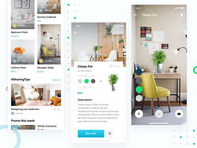 Furnature - Furniture App with AR branding furniture app furniture design augmented reality augmentedreality furniture app ux ui design