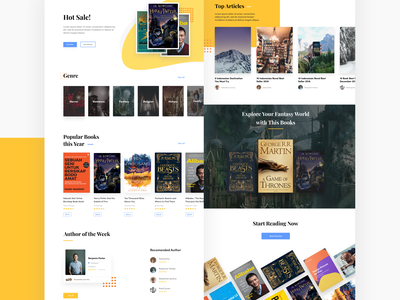 Bookstore Website ecommerce bookshop book bookstore ux ui web design web design