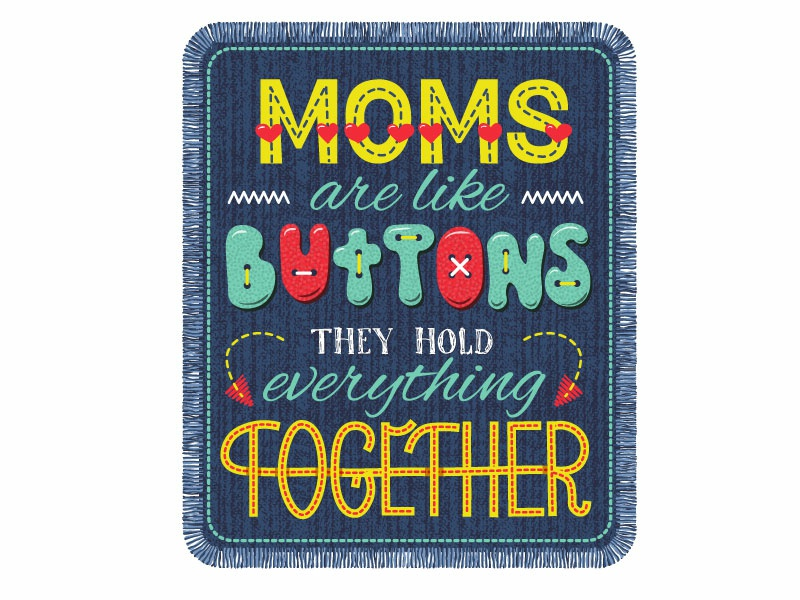 Mother's day lettering card mothers day lettering button mom mother vector typography illustration