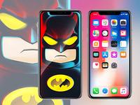 Batman met iPhone X