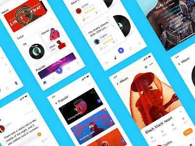 Music interface design ——5 music design fashion interface ui app