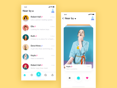 Social application interface-2 design interface ui app