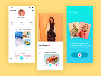 Social application interface-3 appointment social contact design interface ui app