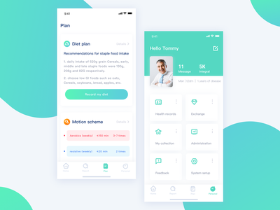 Application of diabetes health management-2 icon healthy design interface ui app