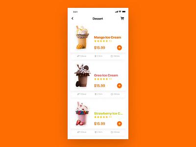 Food interface dynamic effect 1 food gif design interface ui app