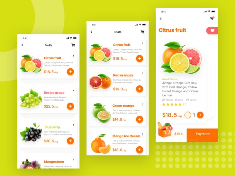 Gourmet Takeaway Platform-4 food shopping design interface ui app