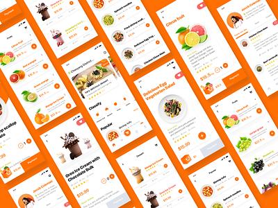 Gourmet Takeaway Platform-6 food shopping design interface ui app