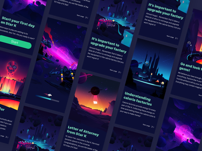 Game Guide Page Design onboarding game illustration design interface ui app