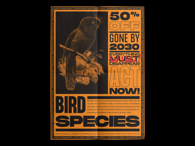 🦉 50% BIRDS GONE BY 2030 🦜