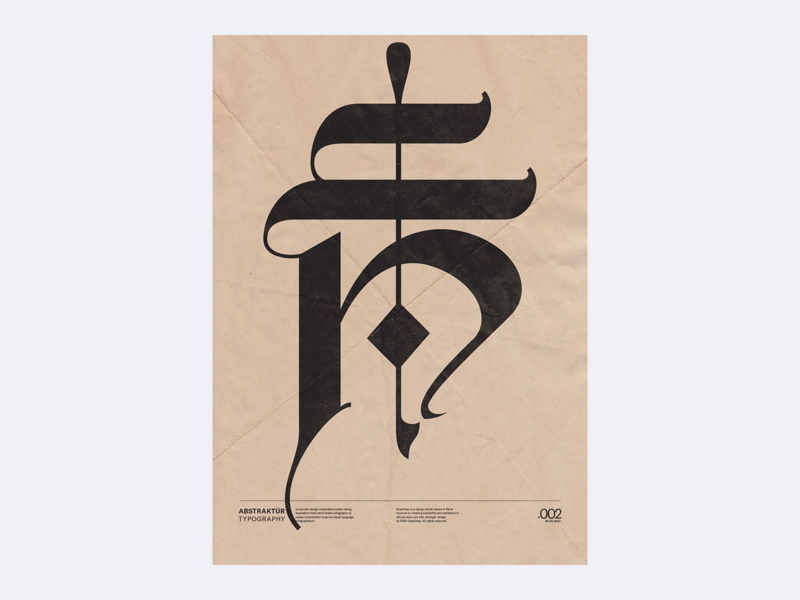 Abstraktür Typography 002 print abstract poster poster abstract symbols type blackletter editorial design graphicdesign typography