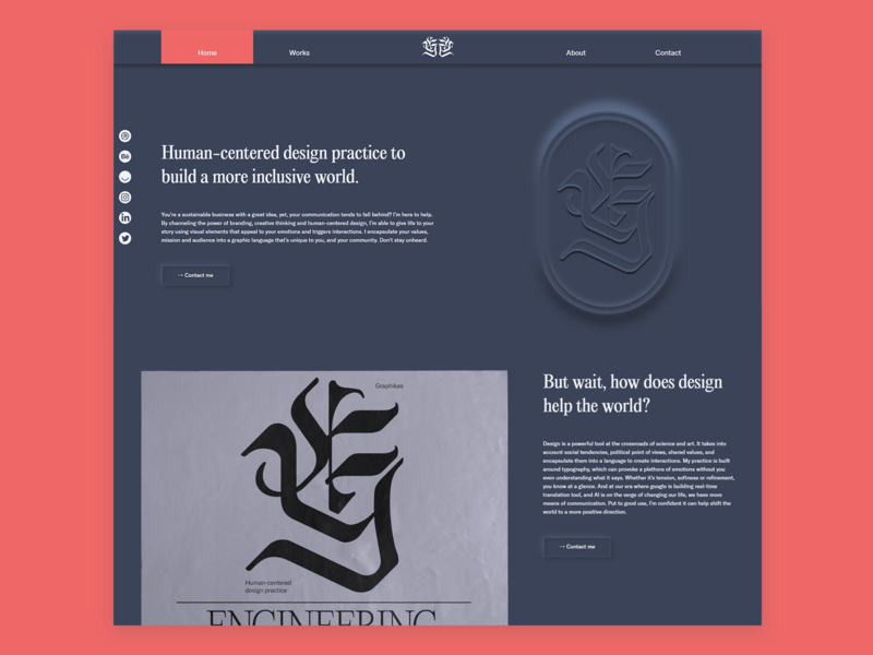Landing page - Concept Website - Graphikas