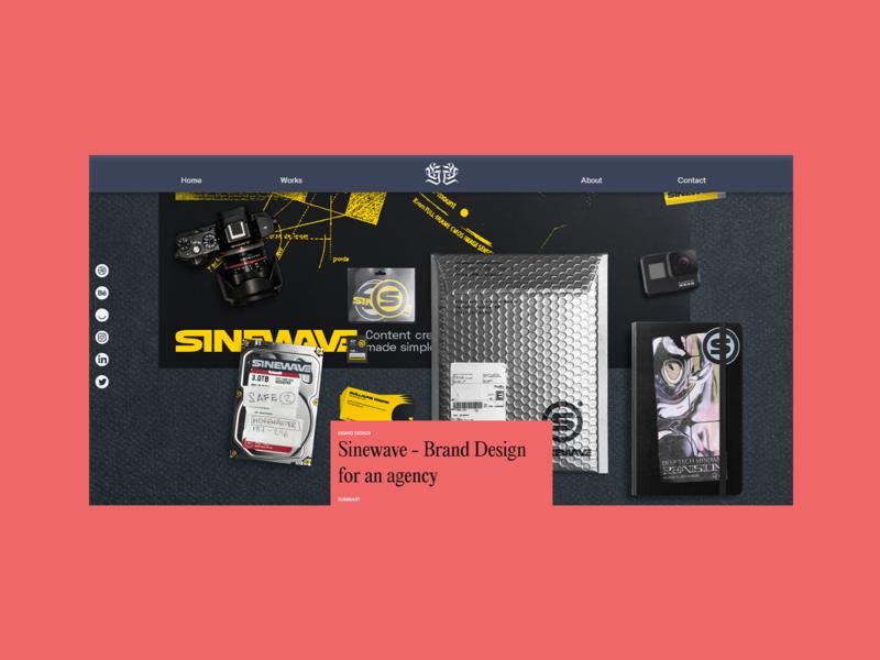 Graphikas - Concept Website - Work page