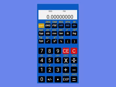 Scientific Calculator Design for Android