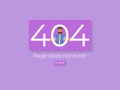 404 Page for web