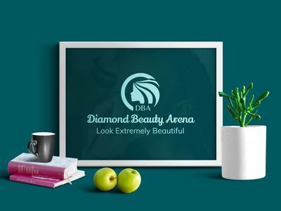 Brand Identity done for Diamond Beauty Arena, a beauty shop