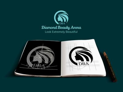 Logo Construction Process for Diamond Beauty Arena
