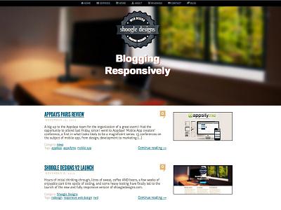Blog blog redesign shoogledesigns rwd responsive web design